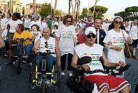 Roma, 14 Luglio 2019<br /> Laura Baldassarre,Vincenzo Zoccano.<br /> Disability Pride per cambiare la percezione della società verso la disabilità per promuovere l'inclusione e contribuire ad un mondo sostenibile, equo e accessibile