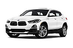 Stock pictures of low aggressive front three quarter view of a 2018 BMW X2 Standard 5 Door SUV