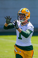 Green Bay Packers wide receiver Colby Pearson (1) during an OTA on June 1, 2017 at Clark Hinkle Field in Green Bay, Wisconsin. (Brad Krause/Krause Sports Photography)