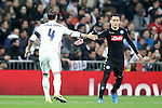 Real Madrid's Sergio Ramos (l) and SSC Napoli's Jose Callejon during Champions League 2016/2017 Round of 16 1st leg match. February 15,2017. (ALTERPHOTOS/Acero)
