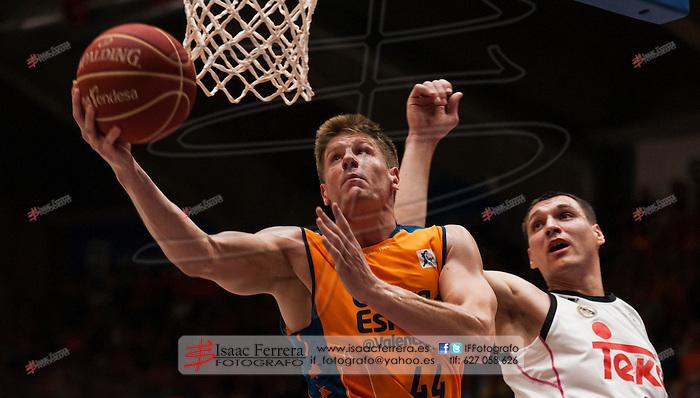 basketball - Liga ENDESA.<br /> Playoff 1/2 final - 3th mach.<br /> Valencia Basket (100) vs (103) Real Madrid.<br /> Fuente de San Luis Pavillion (aka La Fonteta).<br /> June 9, 2015.