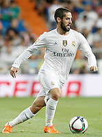 Real Madrid's Isco during XXXVI Santiago Bernabeu Trophy. August 18,2015. (ALTERPHOTOS/Acero)