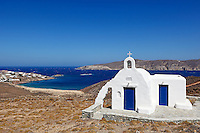 The small chapel near the beach of Saint Sostis in Mykonos, Greece