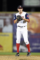Salem Red Sox pitcher Kyle Martin (48) during a game against the Lynchburg Hillcats on April 25, 2014 at Lewisgale Field in Salem, Virginia.  Salem defeated Lynchburg 10-0.  (Mike Janes/Four Seam Images)