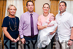 Baby Paraic Henderson, son of Elaine & E.....Henderson, Lixnaw and god parents Sinead Barry & Charlie Henderson who was christened in Our Lady of the Wayside & St. Senan's Chuch , Irremore by Fr Mossie Brick on Sunday last and afterwards at the Listowel Aems Hotel.