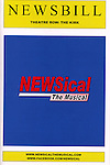 Program for the Opening Night Performance of Perez Hilton in 'NEWSical The Musical' at the Kirk Theatre  in New York City on September 17, 2012.