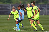 Piscataway, NJ - Sunday June 19, 2016: Taylor Lytle, Kim Little during a regular season National Women's Soccer League (NWSL) match between Sky Blue FC and Seattle Reign FC at Yurcak Field.