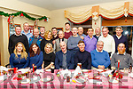 Willie Parker, seated centre, proprietor of Fenit Fruit&Veg with all his staff at their Christmas party in the Tankard, Kilfenora last Saturday night.