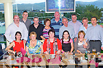TRACK TIME: The staff of Bus Eireann having a great time at the Friends of KGH Benefit meeting at the Kingdom Greyhound Stadium on Friday seated l-r: Pauline Conway, Mary O'Sullivan, Una Lynch, Denise O'Connor and Angela Murphy. Back l-r: George Moloney, Con Murphy, Ger O'Shea, Mary Diggin, Paudie Lynch, Con O'Sullivan, Bernard Diggin, Noel Conway and Tim Murphy.