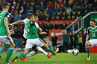 goal, Tor zum 0:2 für von Sandro Wagner (Deutschland Germany) - 05.10.2017: Nordirland vs. Deutschland, WM-Qualifikation Spiel 9, Windsor Park Belfast