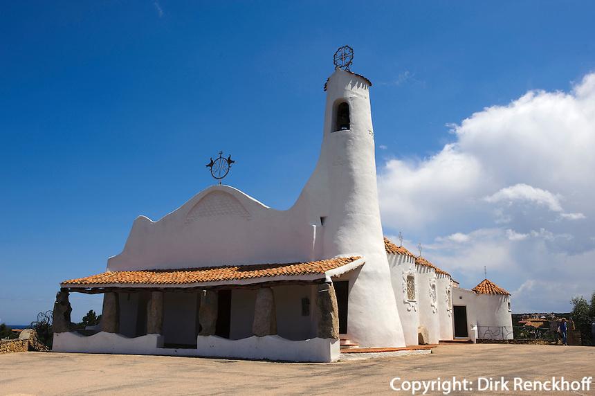 Kirche Stella Maris in Porto Cervo, Costa Smeralda , Provinz Olbia-Tempio, Sardinien, Italien