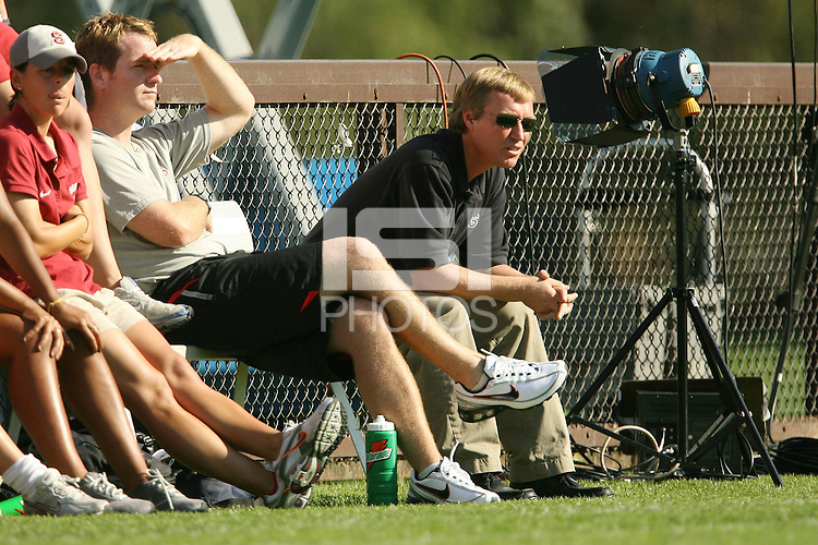 4 November 2007: Head coach Paul Ratcliffe during Stanford's 2-1 overtime win over Washington State at Laird Q. Cagan Stadium in Stanford, CA.