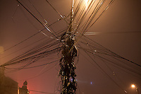 ROMANIA / Bucharest / 29 January 2009 / Wires. © Davin Ellicson / Anzenberger