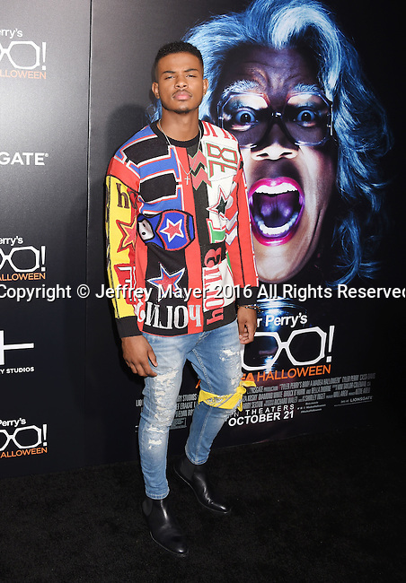 HOLLYWOOD, CA - OCTOBER 17: Singer/actor Trevor Jackson attends the premiere of Lionsgate's 'Boo! A Madea Halloween' at the ArcLight Cinerama Dome on October 17, 2016 in Hollywood, California.