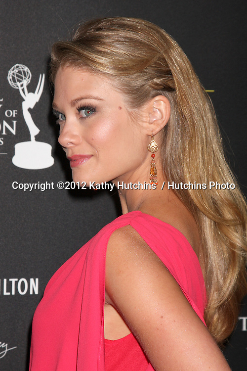LOS ANGELES - JUN 23:  Kim Matula arrives at the 2012 Daytime Emmy Awards at Beverly Hilton Hotel on June 23, 2012 in Beverly Hills, CA