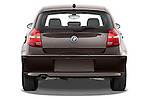 Straight rear view of a 2004 - 2011 BMW 1-Series 118i 5 Door Hatchback 2WD.