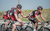 Stefan K&uuml;ng (SUI/BMC) bringing water bottles up to the front to Greg Van Avermaet (BEL/BMC)<br /> <br /> 12th Eneco Tour 2016 (UCI World Tour)<br /> stage 3: Blankenberge-Ardooie (182km)