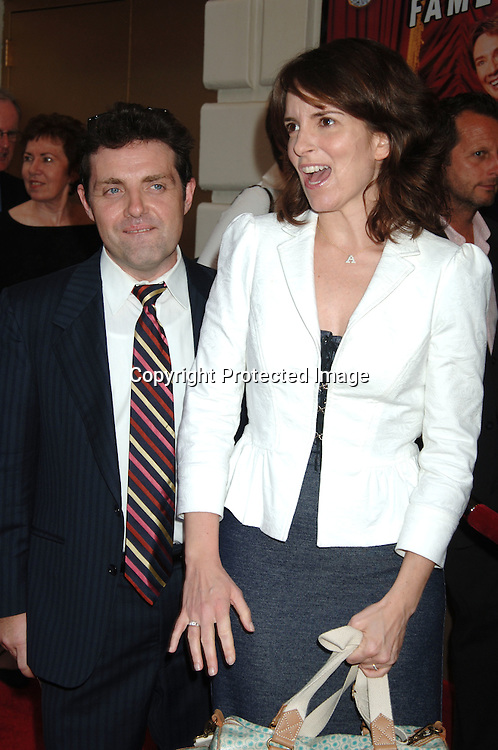"""Tina Fey and husband Jeff Richmond..arriving for the Broadway Opening of """"Martin Short: Fame Becomes Me"""" on August 17, 2006 at The Bernard B Jacobs Theatre. ..Robin Platzer. Twin Images"""