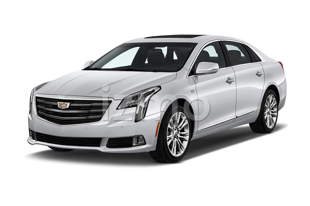 2018 Cadillac XTS Luxury 4 Door Sedan angular front stock photos of front three quarter view