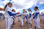 Wildcats' Katilyn Covione gets announced before a game against College of Southern Idaho in Carson City, Nev., on Friday, Feb. 27, 2015. <br /> Photo by Cathleen Allison/Nevada Photo Source