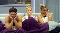 Celebrity Big Brother 2017<br /> Jordan Davies, Amelia Lily and Sarah Harding<br /> *Editorial Use Only*<br /> CAP/KFS<br /> Image supplied by Capital Pictures