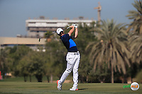 Rory McIlroy (NIR) on the 3rd fairway during the Final Round of the 2016 Omega Dubai Desert Classic, played on the Emirates Golf Club, Dubai, United Arab Emirates.  07/02/2016. Picture: Golffile | David Lloyd<br /> <br /> All photos usage must carry mandatory copyright credit (&copy; Golffile | David Lloyd)