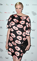 Gwendoline Christie attends the WGSN Global Fashion Awards at the Victoria & Albert Museum on October 30, 2013 in London, England