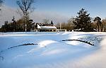 HILVERSUM - De baan van de Hilversumse Golfclub besneeuwd. ANP COPYRIGHT KOEN SUYK
