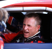 Mark Martin in his car at Homestead-Miami Speedway in November 2000. (Photo by Brian Cleary)