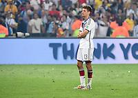 FUSSBALL WM 2014                       FINALE   Deutschland - Argentinien     13.07.2014 DEUTSCHLAND FEIERT DEN WM TITEL: Moment der Stille: Thomas Mueller