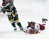 Peggy Wakeham (Vermont - 14), Ashley Motherwell (BC - 18) - The University of Vermont Catamounts defeated the Boston College Eagles 5-1 on Saturday, November 7, 2009, at Conte Forum in Chestnut Hill, Massachusetts.