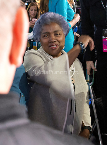 Donna Brazile on the Main Press Riser during the Hillary Clinton Election Night Event at the Jacob K. Javits Convention Center in New York, New York on Tuesday, November 8, 2016.<br /> Credit: Ron Sachs / CNP / MediaPunch<br /> <br /> (RESTRICTION: NO New York or New Jersey Newspapers or newspapers within a 75 mile radius of New York City)