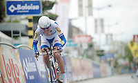 Tour of Belgium 2013.stage 3: iTT..Pieter Jacobs (BEL) finishing his TT