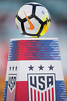 Jacksonville, FL - Thursday, April 05, 2018:  Game Ball during a friendly match between USA and Mexico at EverBank Stadium.  USA defeated Mexico 4-1.