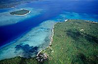 Pele and Kakula islands surrounded by tropical sea, Vanuatu.