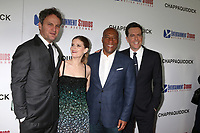 "LOS ANGELES - MAR 28:  Jason Clarke, Kate Mara, Bryon Allen, Ed Helms at the ""Chappaquiddick"" Premiere at Samuel Goldwyn Theater on March 28, 2018 in Beverly Hills, CA"