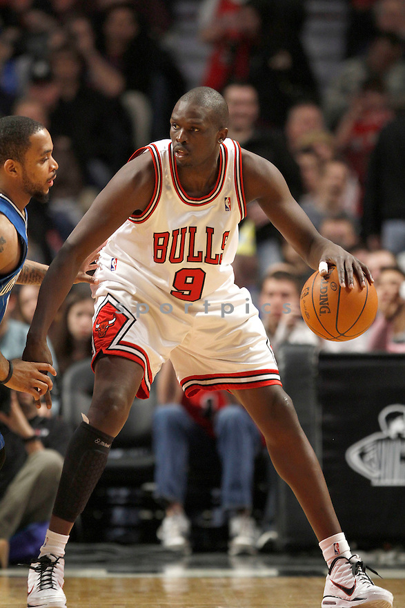 LUOL DENG, in action during the Chicago Bulls v. Orlando Magic game on January 2, 2010 in Chicago, Illinois. Bulls won 101-93.