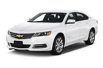 2018 Chevrolet Impala 1LT 4 Door Sedan angular front stock photos of front three quarter view