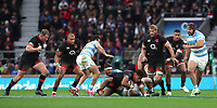 England's Anthony Watson is tackled during todays game <br /> <br /> Photographer Rachel Holborn/CameraSport<br /> <br /> International Rugby Union Friendly - Old Mutual Wealth Series Autumn Internationals 2017 - England v Argentina - Saturday 11th November 2017 - Twickenham Stadium - London<br /> <br /> World Copyright &copy; 2017 CameraSport. All rights reserved. 43 Linden Ave. Countesthorpe. Leicester. England. LE8 5PG - Tel: +44 (0) 116 277 4147 - admin@camerasport.com - www.camerasport.com