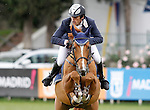 Portugal's jockey Felipe Malta da Costa with the horse Joyau du Manoir during 102 International Show Jumping Horse Riding, King's College Trophy. May, 20, 2012. (ALTERPHOTOS/Acero)