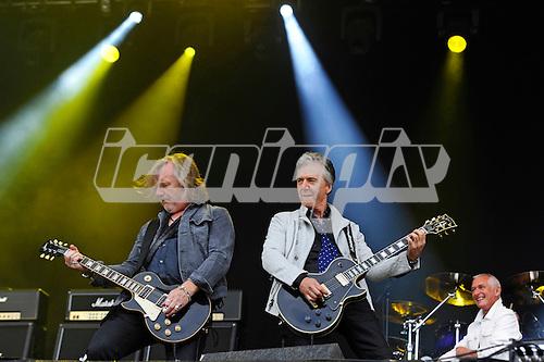 THUNDER - guitarists Luke Morley and Ben Matthews - performing live n Day Two of the Ramblin' Man Fair at Mote Park Maidstone Kent UK - 24 Jul 2016.  Photo credit: Zaine Lewis/IconicPix