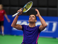 December 17, 2014, Rotterdam, Topsport Centrum, Lotto NK Tennis, Carlos Anker (NED)<br /> Photo: Tennisimages/Henk Koster