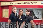 Lorraine McKenna, Glenda Daly,.Proprietor, and Mary Kenny, pictured.outside Beauty Matters,.Barrack Lane, Tralee.