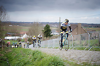 Sep Vanmarcke (BEL/LottoNL-Jumbo) up the Paterberg during the Ronde van Vlaanderen 2016 recon