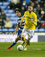 Leeds United's Pontus Jansson (right) under pressure from Reading's Danny Loader (left) <br /> <br /> Photographer David Horton/CameraSport<br /> <br /> The EFL Sky Bet Championship - Reading v Leeds United - Tuesday 12th March 2019 - Madejski Stadium - Reading<br /> <br /> World Copyright &copy; 2019 CameraSport. All rights reserved. 43 Linden Ave. Countesthorpe. Leicester. England. LE8 5PG - Tel: +44 (0) 116 277 4147 - admin@camerasport.com - www.camerasport.com