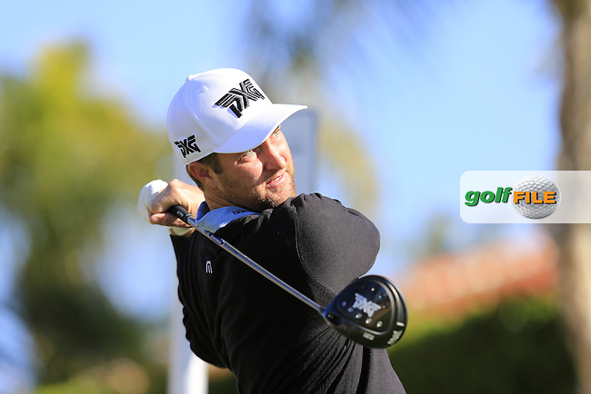 Chris Kirk (USA) tees off the 2nd tee during Saturday's Round 3 of the 2017 CareerBuilder Challenge held at PGA West, La Quinta, Palm Springs, California, USA.<br /> 21st January 2017.<br /> Picture: Eoin Clarke | Golffile<br /> <br /> <br /> All photos usage must carry mandatory copyright credit (&copy; Golffile | Eoin Clarke)
