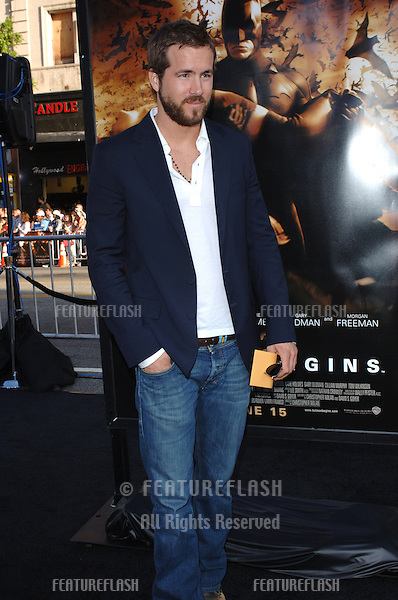 Actor RYAN REYNOLDS at the Los Angeles premiere of Batman Begins..June 6, 2005 Los Angeles, CA..© 2005 Paul Smith / Featureflash