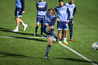 Wycombe Wanderers Manager Gareth Ainsworth warms up as he names himself on the bench during the The Checkatrade Trophy match between Wycombe Wanderers and West Ham United U21 at Adams Park, High Wycombe, England on 4 October 2016. Photo by Andy Rowland.