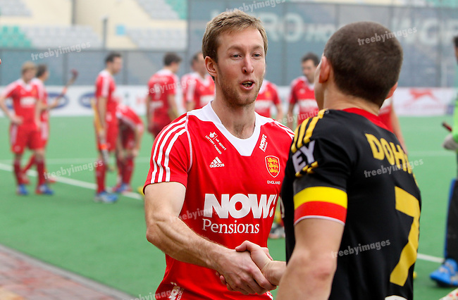 Mens Hockey World league Final Delhi 2014<br /> Day 4, 15-01-2014<br /> England v Belgium<br /> Barry Middleton<br /> Photo: Grant Treeby / treebyimages
