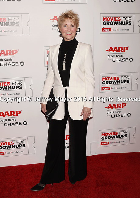 BEVERLY HILLS, CA - FEBRUARY 08: Actress Dee Wallace attends AARP's Movie For GrownUps Awards at the Regent Beverly Wilshire Four Seasons Hotel on February 8, 2016 in Beverly Hills, California.